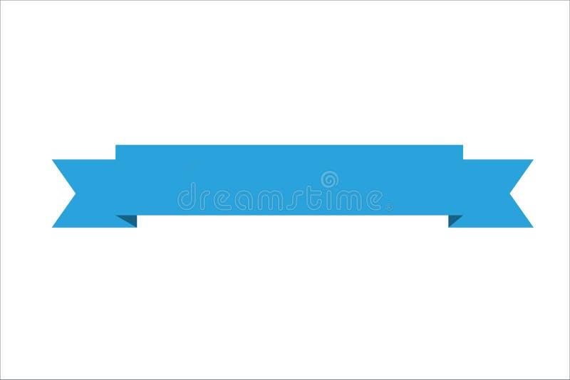 Bandera de Blue Ribbon para las tarjetas de la página web, del logotipo o de felicitación libre illustration