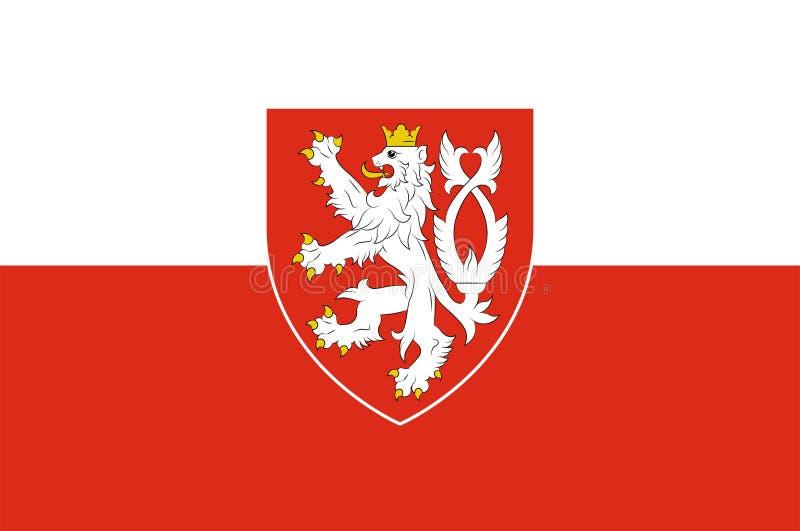 Bandera de Bohemia en la República Checa stock de ilustración