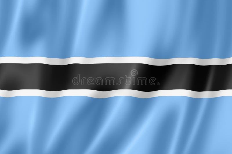 Bandera de Botswana ilustración del vector