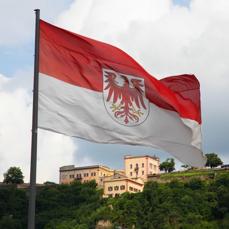 Bandera de Brandeburgo fotos de archivo libres de regalías