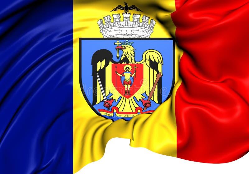 Bandera de Bucarest libre illustration