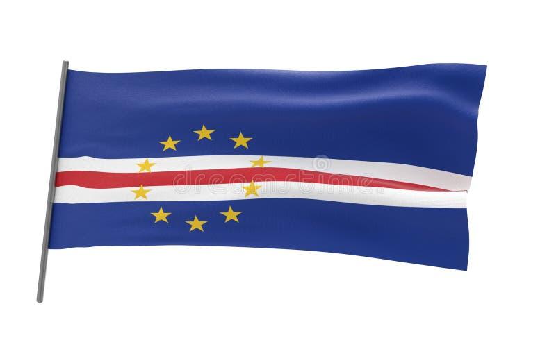 Bandera de Cabo Verde ilustración del vector