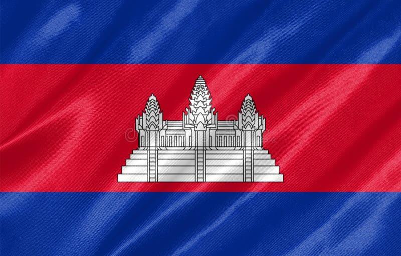 Bandera de Camboya stock de ilustración