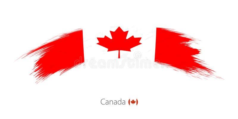 Bandera de Canadá en movimiento redondeado del cepillo del grunge libre illustration