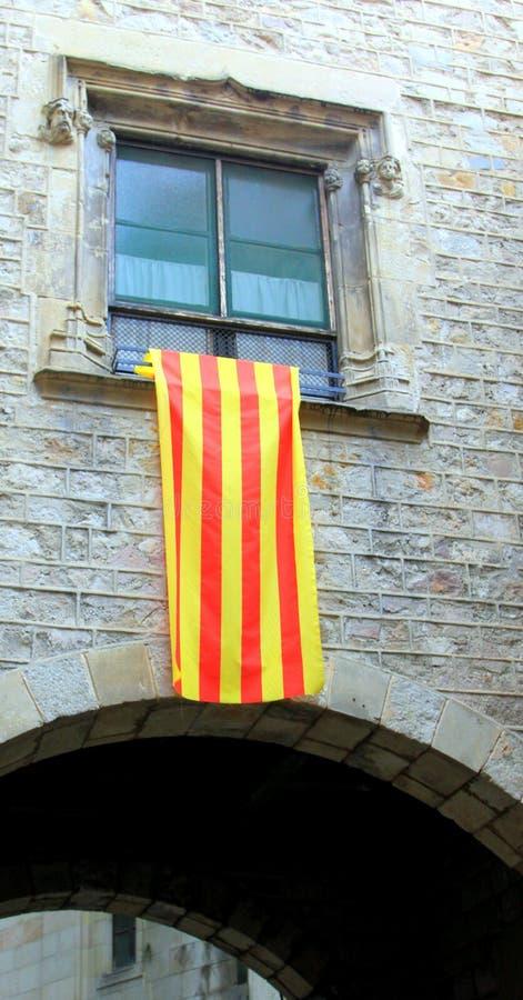 Bandera de Catalon imagenes de archivo