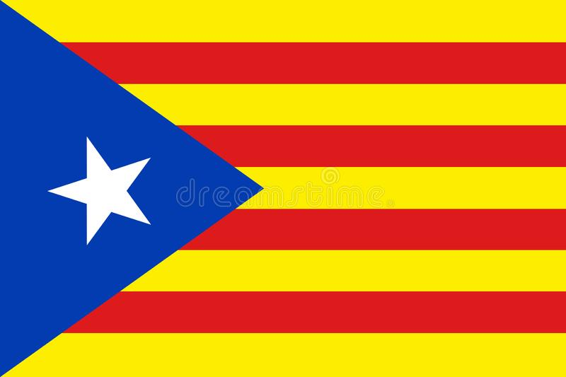Bandera de Cataluña de la independencia libre illustration