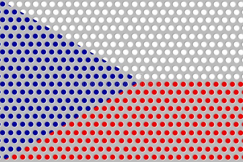 Bandera de Checo en el metal stock de ilustración
