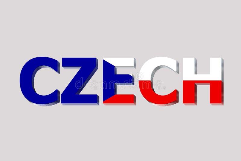 Bandera de Checo en el texto libre illustration