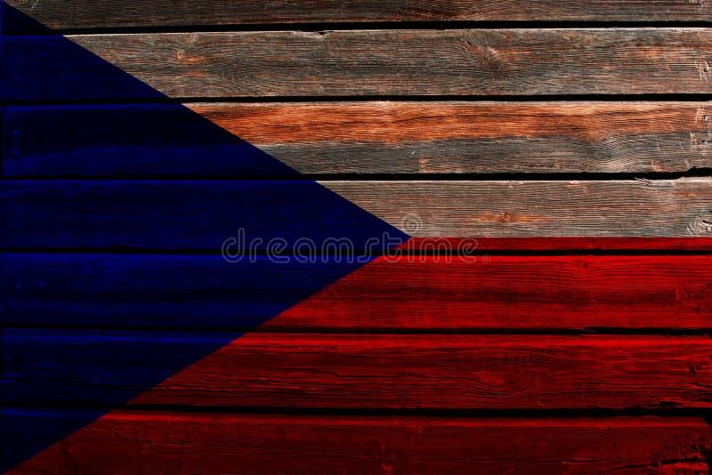 Bandera de Checo en la madera libre illustration