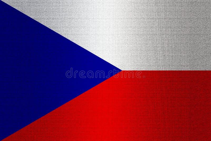 Bandera de Checo en piedra libre illustration