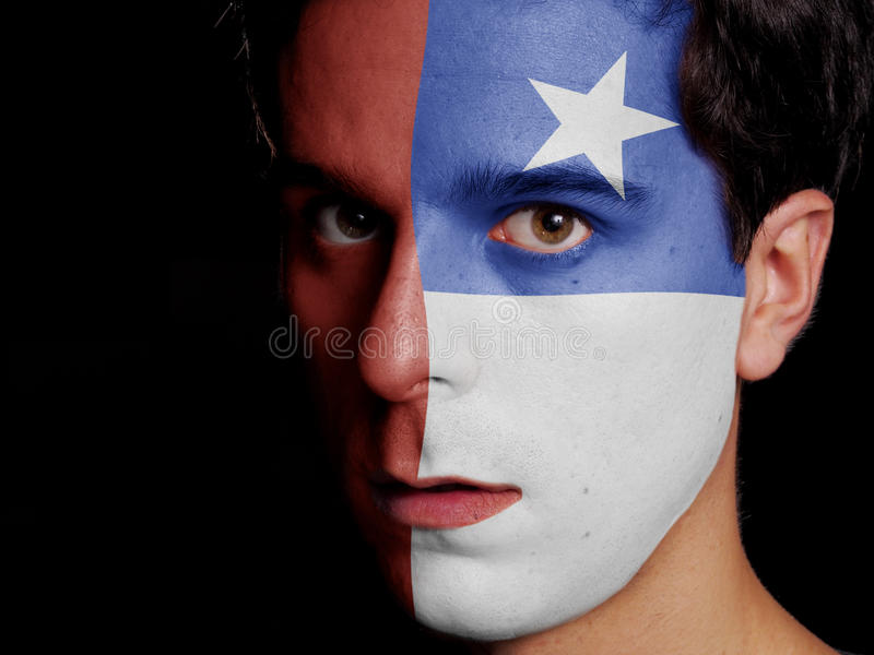 Bandera de Chile foto de archivo