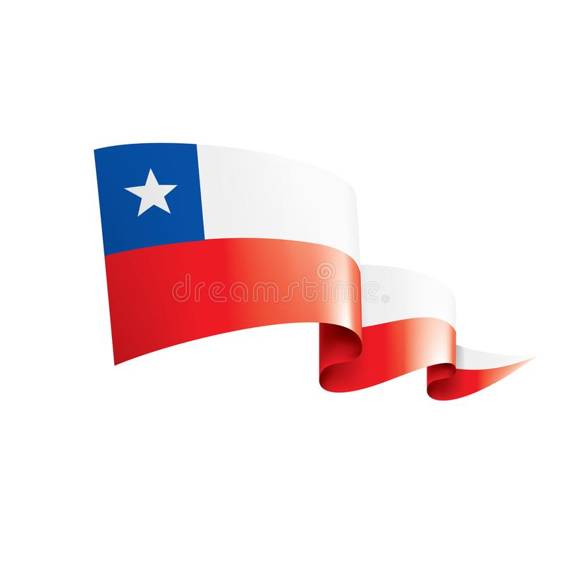 Bandera de Chile, ejemplo del vector en un fondo blanco ilustración del vector