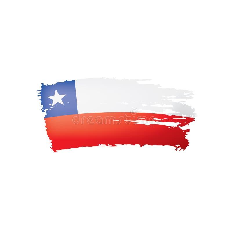 Bandera de Chile, ejemplo del vector en un fondo blanco stock de ilustración