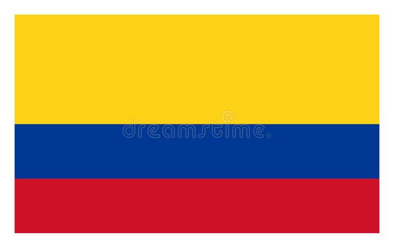 Bandera de Colombia ilustración del vector