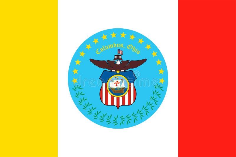 Bandera de Columbus en Ohio, los E.E.U.U. ilustración del vector