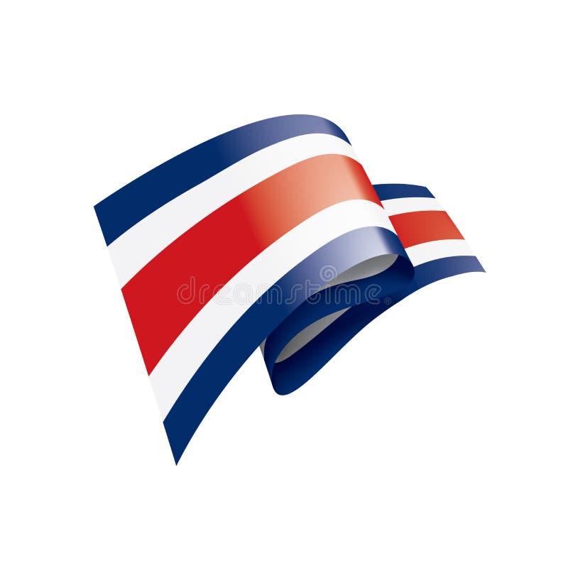 Bandera de Costa Rica, ejemplo del vector en un fondo blanco libre illustration