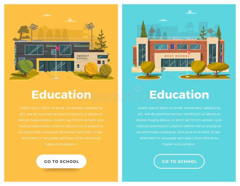 Bandera de dos verticales para el diseño web libre illustration
