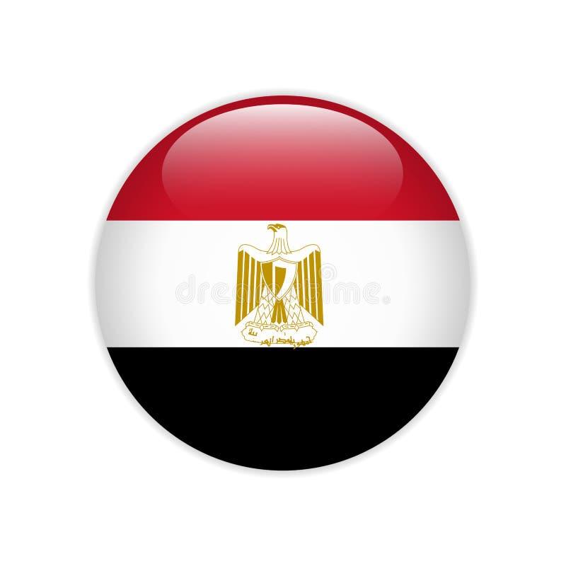 Bandera de Egipto en el botón libre illustration