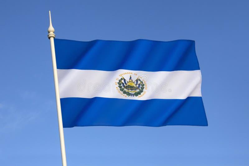 Bandera de El Salvador fotos de archivo libres de regalías