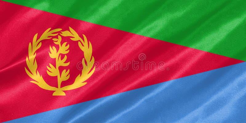 Bandera de Eritrea stock de ilustración