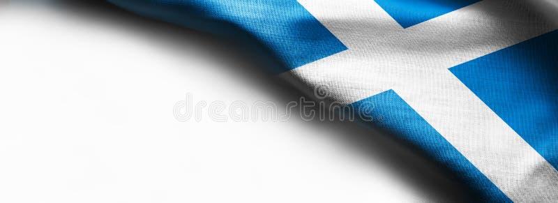 Bandera de Escocia en el fondo blanco imagen de archivo libre de regalías
