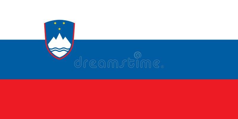 Bandera de Eslovenia en colores oficiales y con la relación de aspecto de 1:2 libre illustration