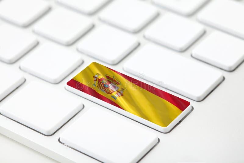 Bandera de España con el foco selectivo libre illustration