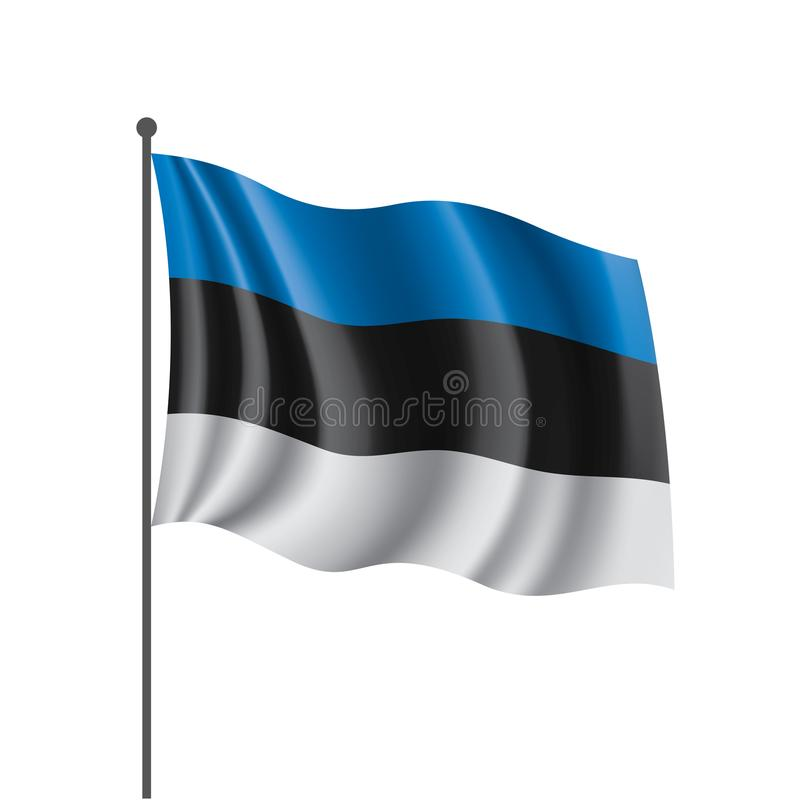 Bandera de Estonia, ejemplo del vector libre illustration