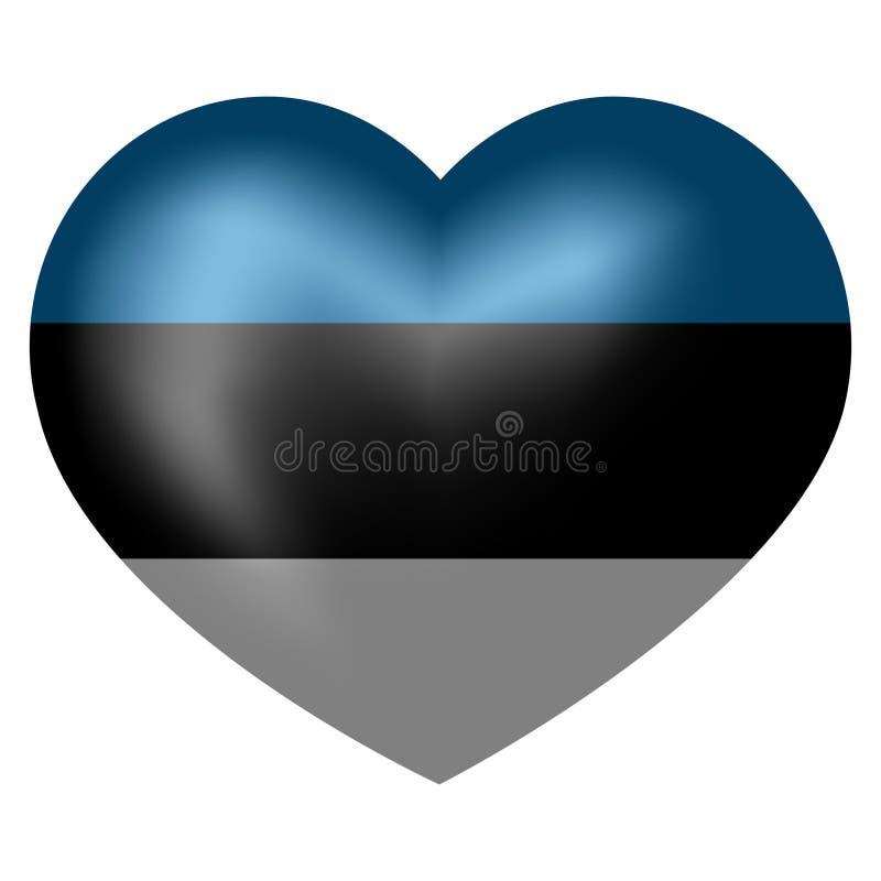 Bandera de Estonia en forma del corazón Ilustraci?n del vector libre illustration