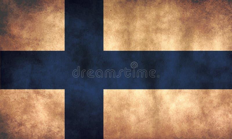 Bandera de Finlandia ruidosa stock de ilustración
