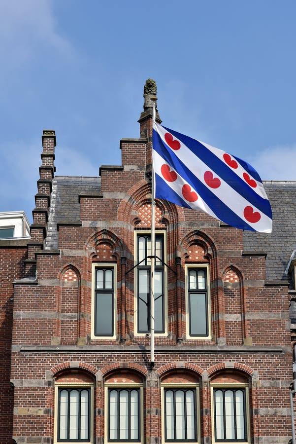 Bandera de Frisia imagenes de archivo