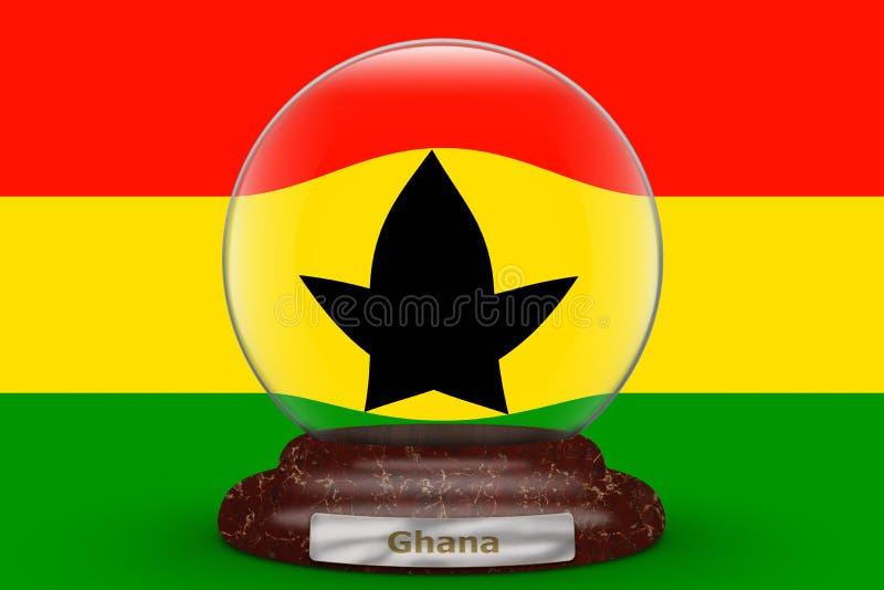 Bandera de Ghana en el globo de la nieve libre illustration
