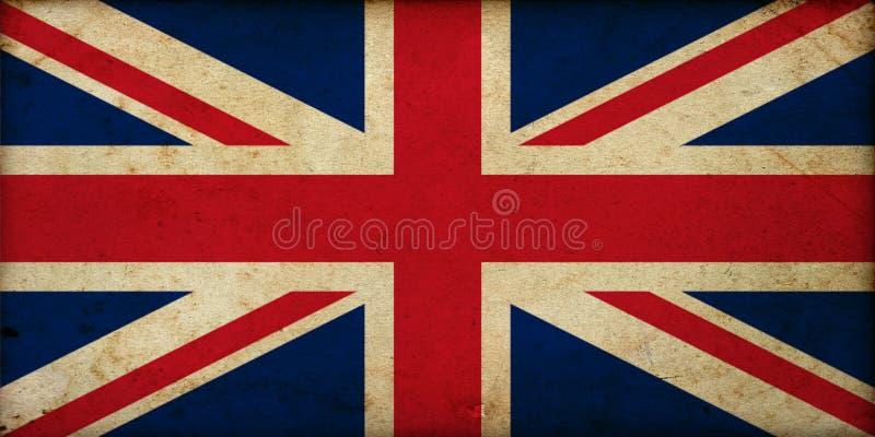 Bandera de Gran Bretaña del vintage del Grunge ilustración del vector