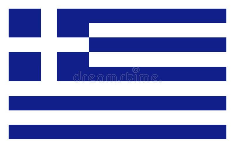 Bandera de Grecia stock de ilustración