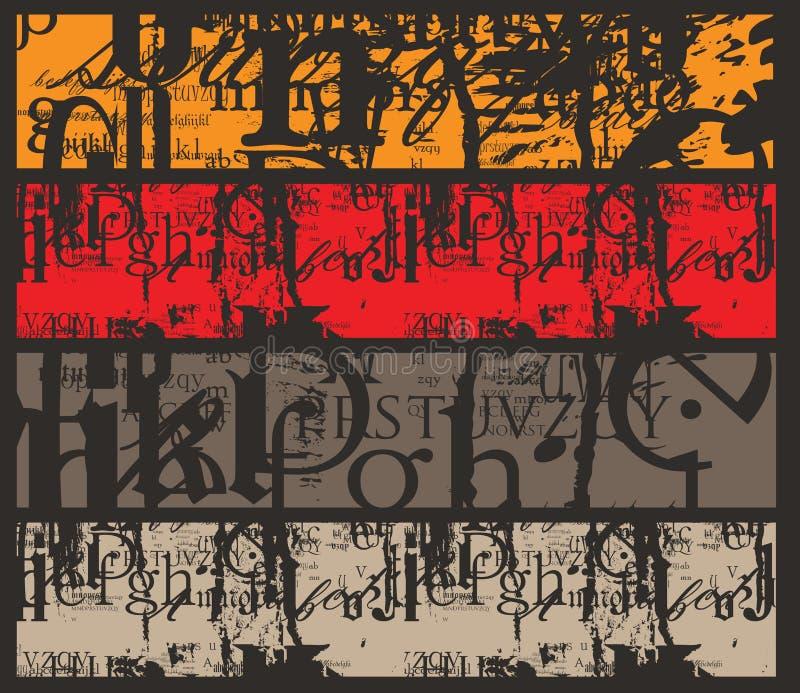 Bandera de Grunge stock de ilustración