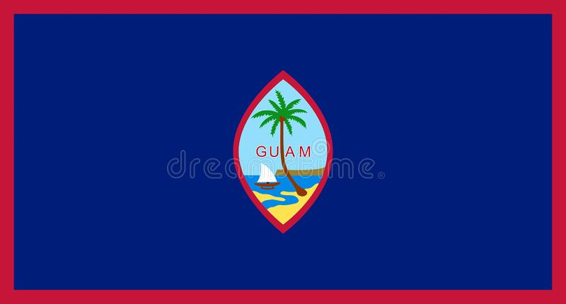 Bandera de Guam - los E.E.U.U. imagenes de archivo