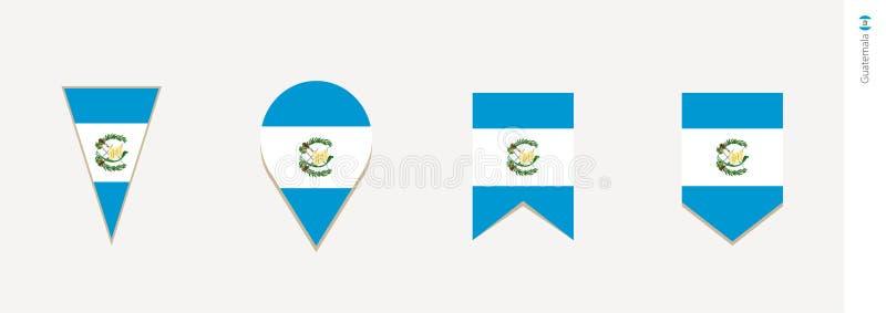 Bandera de Guatemala en el diseño vertical, ejemplo del vector ilustración del vector