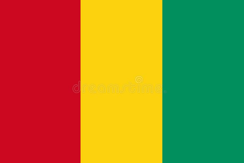 Bandera de Guinea libre illustration