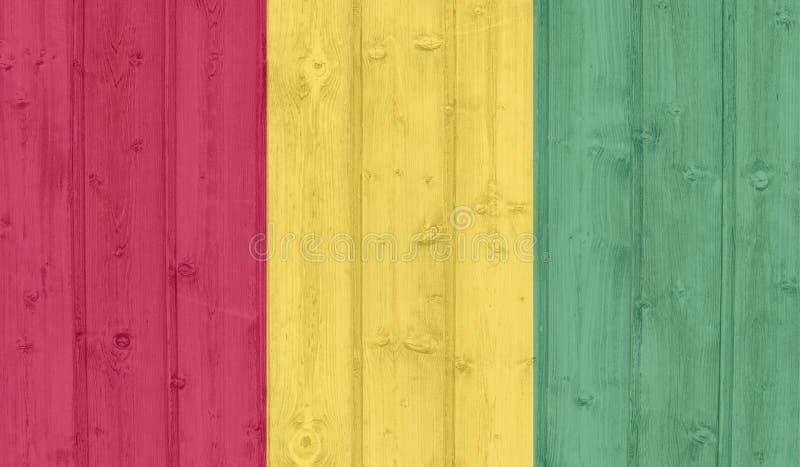Bandera de Guinea del Grunge imágenes de archivo libres de regalías