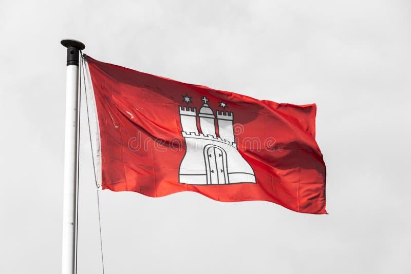 Bandera de Hamburgo, Alemania fotos de archivo