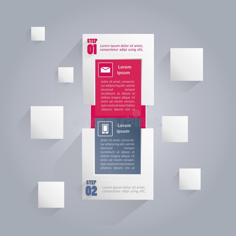 Bandera de Infographics con los iconos y el área para su texto stock de ilustración