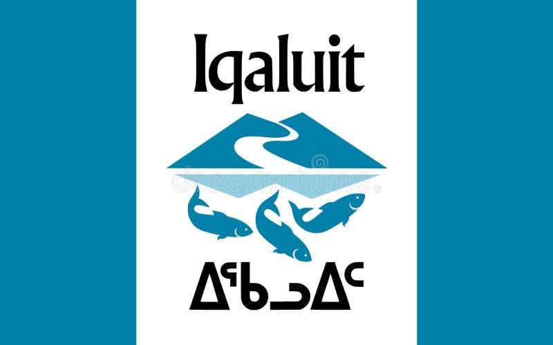 Bandera de Iqaluit en Nunavut, Canadá imagenes de archivo