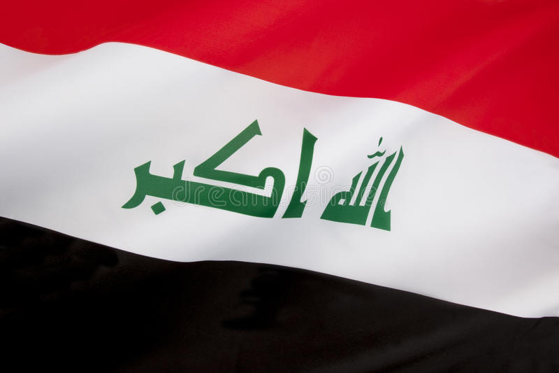 Bandera de Iraq imagenes de archivo