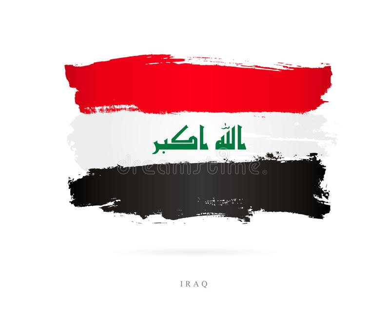 Bandera de Iraq Concepto abstracto libre illustration
