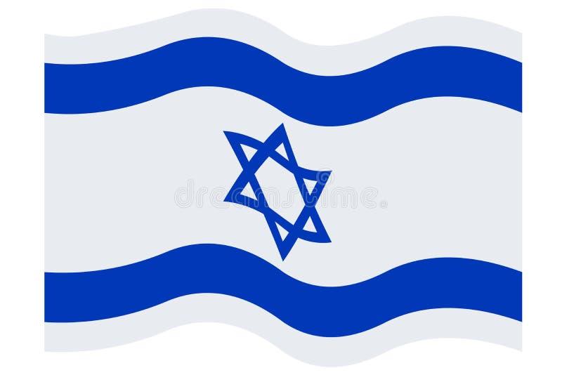 Bandera de Israel en un fondo blanco libre illustration