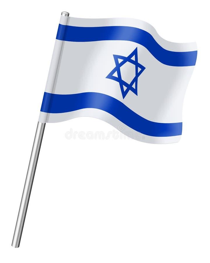 Bandera de Israel en un fondo blanco stock de ilustración