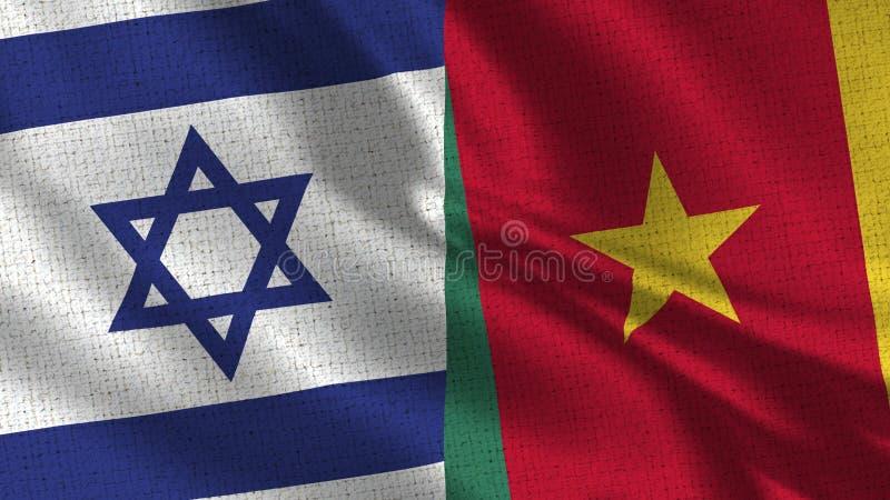 Bandera de Israel y del Camerún - bandera dos junto fotografía de archivo