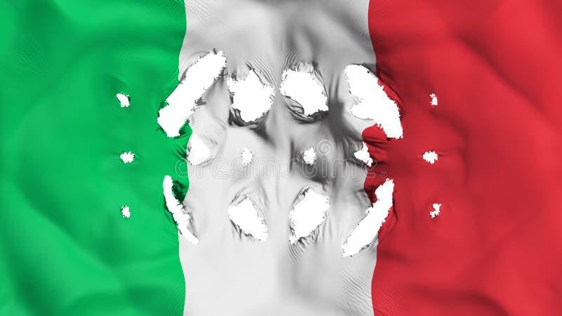 Bandera de Italia con pequeños agujeros ilustración del vector