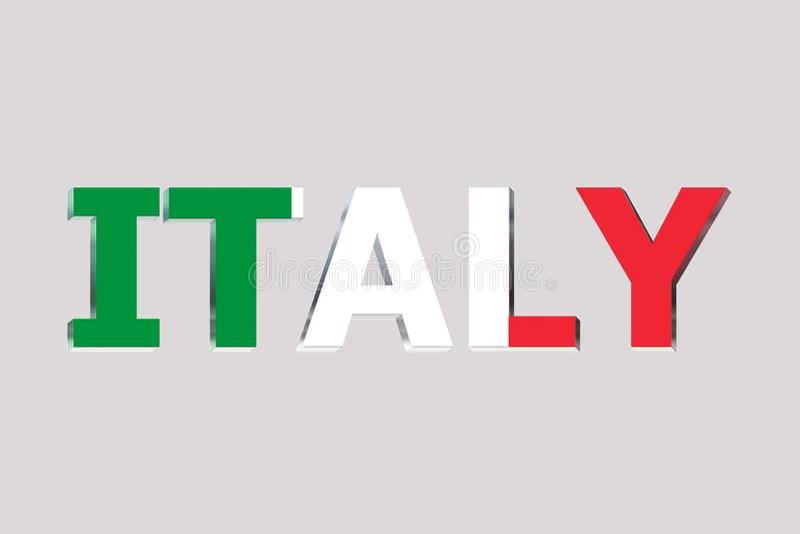 Bandera de Italia en el texto libre illustration