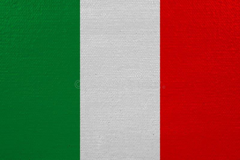 Bandera de Italia en lona libre illustration
